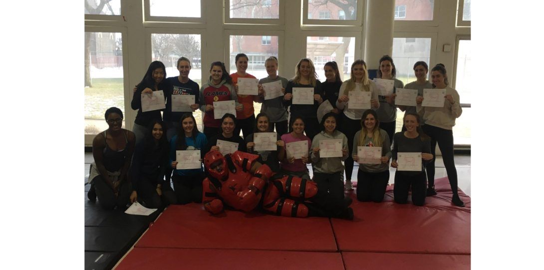 Group at women's self-defense courses