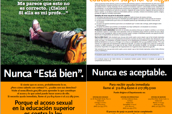 Sexual Harassment Poster in Spanish (3)